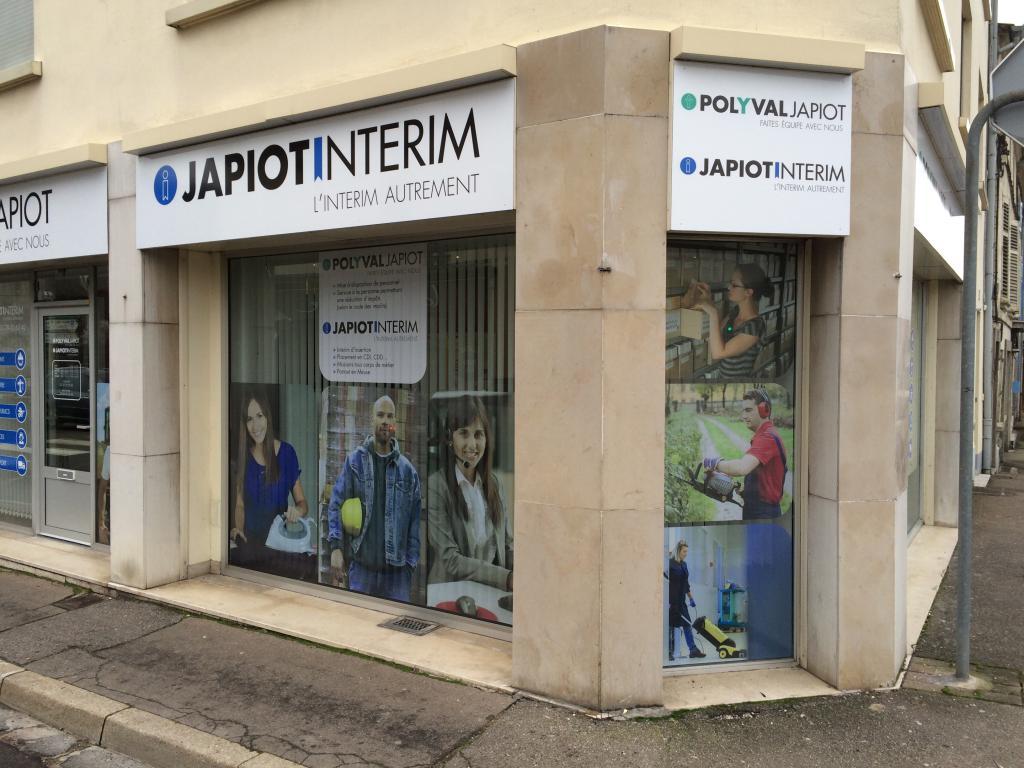 Enseigne bandeau et vitrine entreprise POLYVAL JAPIOT