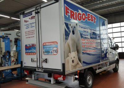 Décor camion frigorifique entreprise FRIGO-EST