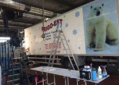 Décor camion entreprise FRIGO-EST
