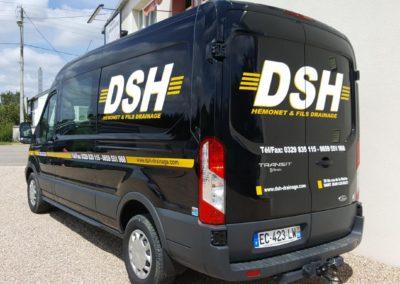 Décor adhésif utilitaire entreprise DSH Drainage