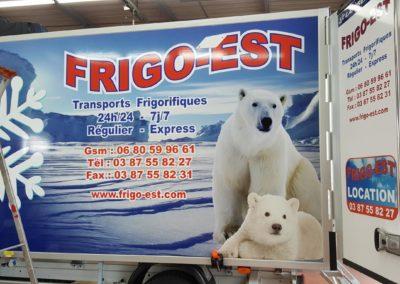 Décor adhésif camion frigorifique entreprise FRIGO-EST