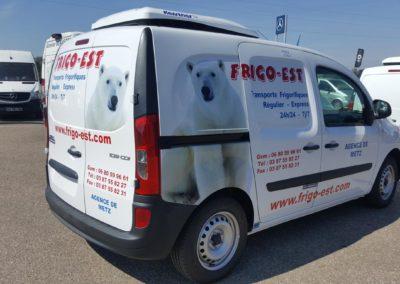 Décor adhésif utilitaire entreprise FRIGO-EST