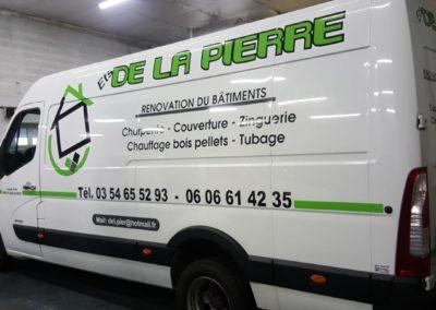 Décor adhésif utilitaire entreprise ETS DE LA PERRE