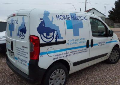 Décor adhésif véhicule léger entreprise HOME MEDICAL