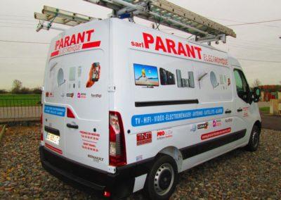 Décor véhicule utilitaire entreprise Parant Electronique