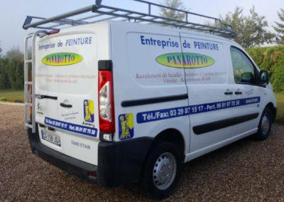 Décor véhicule utilitaire entreprise Panarotto