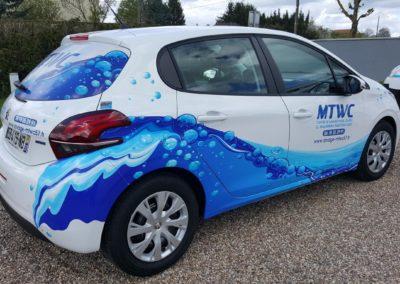 Décor adhésif sur véhicule léger entreprise MTWC