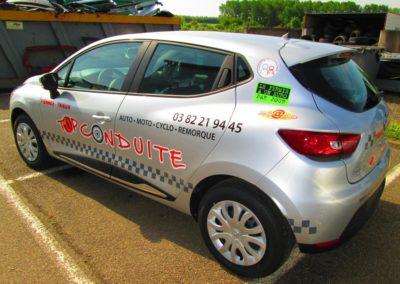 Décor adhésif véhicule leger entreprise TOP CONDUITE