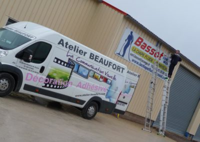 Enseigne bandeau entreprise BASSOT