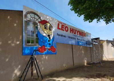 Enseigne bandeau entreprise LEO HUYNEN