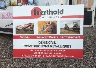 Enseigne bandeau entreprise BERTHOLD