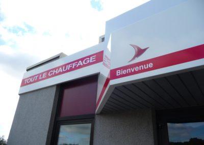 Enseigne bandeau tolerie aluminium entreprise CHAPPEE