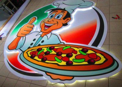 Logo lumineux restaurant LA STORIA