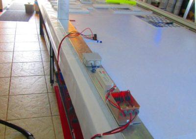 Fabrication caisson lumineux : montage electrique