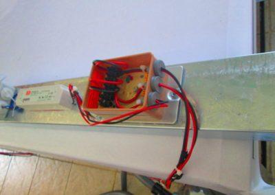 Cablage electrique d'enseigne lumineuse