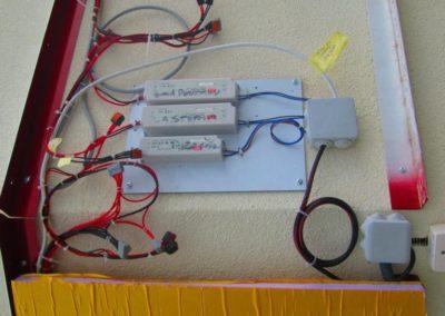 Cablage electrique enseigne lumineuse
