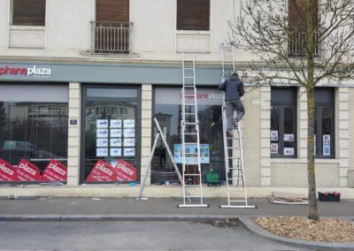 Façade de l'agence immobilière Stéphane Plaza