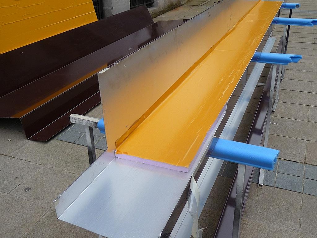 Corières en alu pour habillage de façade en tôlerie aluminium