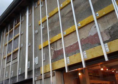 Préparation à la pose d'un habillage de façade en Trespa