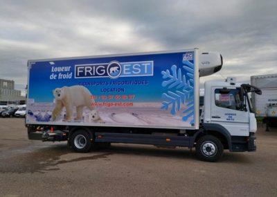 Décor adhésif véhicule frigorifique